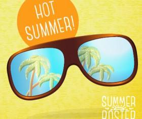 Retro summer advertising poster vector set 03