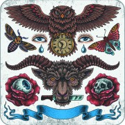 Link toRetro tatoo creative design vector set 04