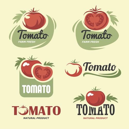 Retro tomato logos cre... Tomato Logo