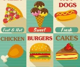 Retro with vintage restaurant menu cover vector graphics 01