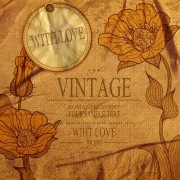 Link toRomantic vintage cards with love vector 01
