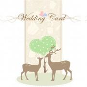 Link toRomantic wedding card with deer vector