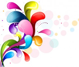 Shiny colored object holiday background vector set 03