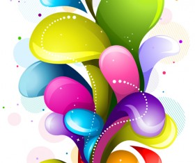 Shiny colored object holiday background vector set 04