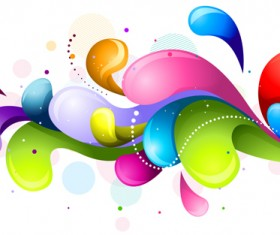 Shiny colored object holiday background vector set 06