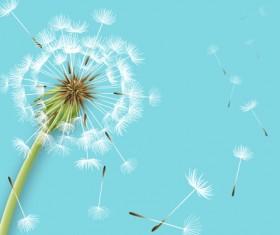 Shiny dandelion vector backgrounds material 01
