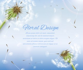 Shiny dandelion vector backgrounds material 02