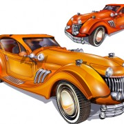 Link toShiny retro car vector graphics