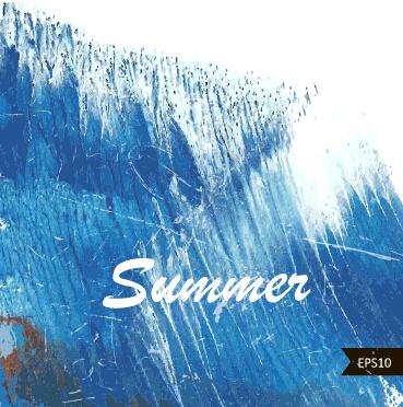 Summer watercolors vector background art 04