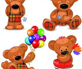 Super cute teddy bear design vector graphics 02