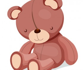 Super cute teddy bear design vector graphics 06