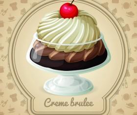 Tasty dessert background design vector 05