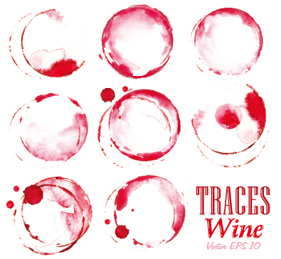 Traces wine design vector