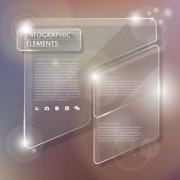 Link toTransparent glass business infographics vector 02