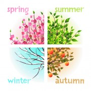 Link toTree with four seasons vector material 02