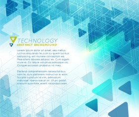 Triangle technology abstract background vector 01