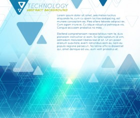 Triangle technology abstract background vector 02