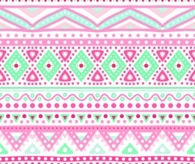 Tribal decorative pattern backgrounds vector 01
