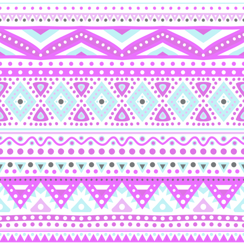 Tribal decorative pattern backgrounds vector 03