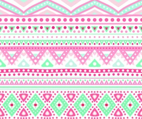 Tribal decorative pattern backgrounds vector 04