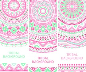 Tribal decorative pattern backgrounds vector 05