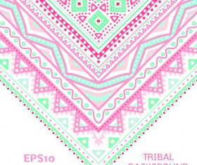 Tribal decorative pattern backgrounds vector 06