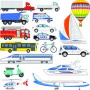 Link toVarious transport set vector