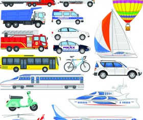 Various transport set vector