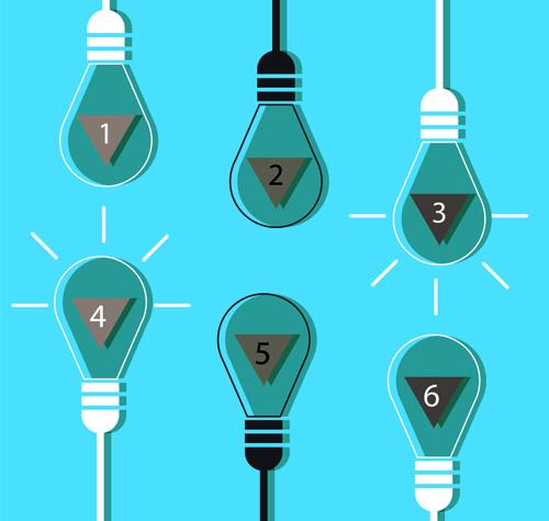 Vector lamp creative idea business template 01