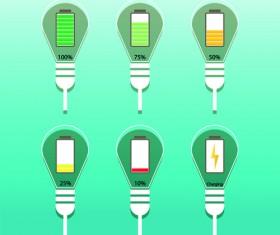 Vector lamp creative idea business template 02