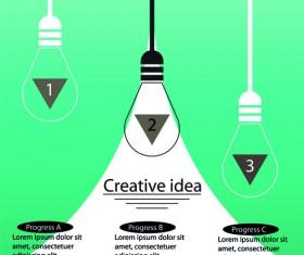 Vector lamp creative idea business template 03