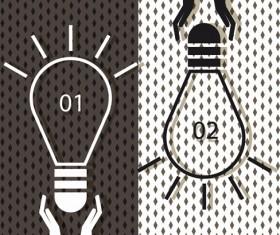 Vector lamp creative idea business template 04