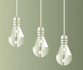 Vector lamp creative idea business template 05