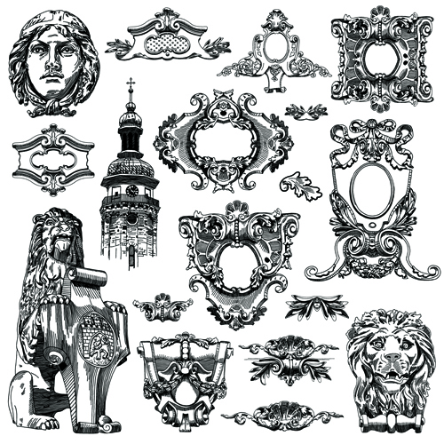 Victorian Design Elements victorian style decorative elements vector graphics 02 - vector