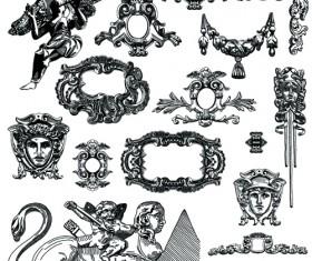Victorian style decorative elements vector graphics 04