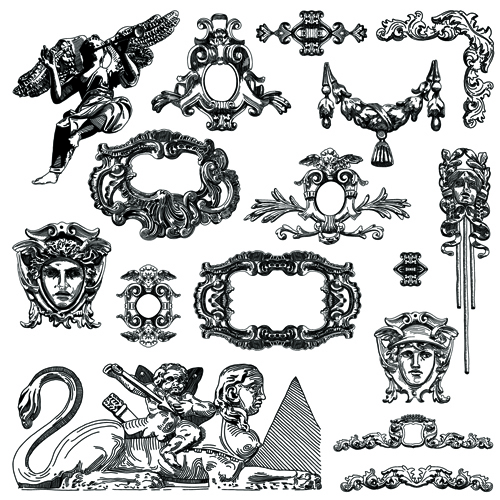 Victorian Design Elements victorian style decorative elements vector graphics 04 - vector