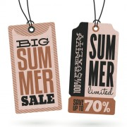 Link toVintage cardboard summer discount tags vector 04