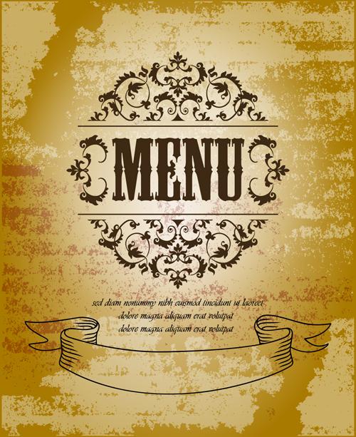 Vintage menu with grunge background vector over millions vectors vintage menu with grunge background vector toneelgroepblik Gallery