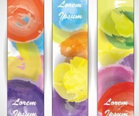 Watercolor doodle banner design vector