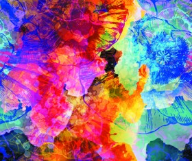 Watercolor object abstract art background vector 01