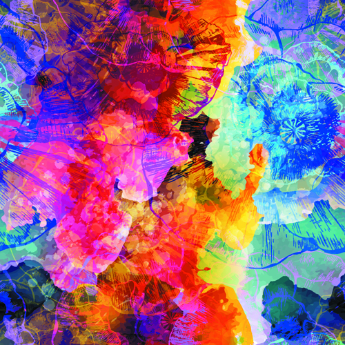Watercolor object abstract art background vector 01 free