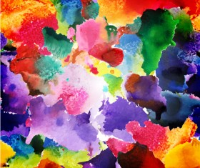 Watercolor object abstract art background vector 03