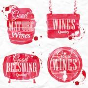 Link toWatercolor wine labels vector