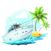 Link toYacht and travel background vector image
