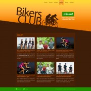 Bikers club website template psd