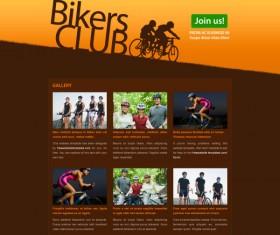 bikers club website template psd