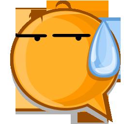 sweat expression icon