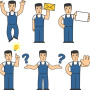 Link toWorkman icons design vector material
