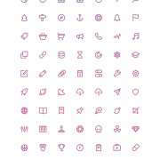 140 kind free outline stroke icons