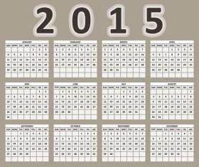 2015 grid calendar creative design vector 01